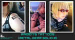 Commission - Raiden's Tattoos (MGS2) by SnowBunnyStudios