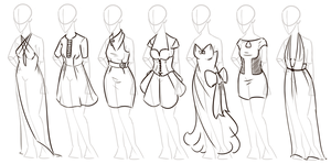 Free-to-Use Dress Designs by Daeranilen