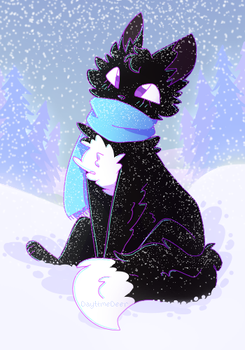 Ravenpaw's winter redraw by DaytimeDeer