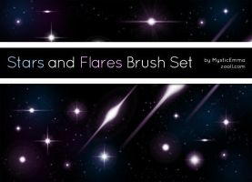 Stars And Flares Brush Set by MysticEmma