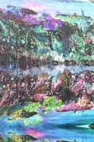 Dayglo Steel Pipe Landscape Sexton Watercolour by aegiandyad