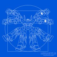 Vitruvian Megas - Blueprints by wilkowwc