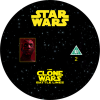 Star Wars: The Clone Wars: B. Lines DVD label 2/4 by Wario64I