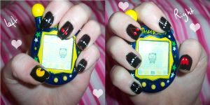 .nail art. Pacman by neko-crafts