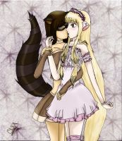 Racoon Girl and Chii love by Ch4rLa-Hin4