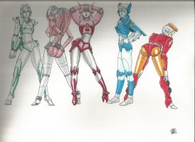 Sexy Autobots Femmes by Jovianwolfgirl