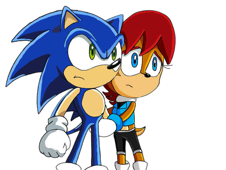 Sonic and Sally in Sonic x by sharly877