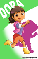 Dora still explorer alternate hairstyle by toongrowner
