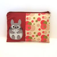 Red totoro pouch by yael360