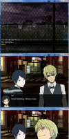 Durarara!! Dating sim - screen3 by WaveQuestionmark