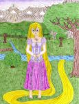 Drawing 13 - DMG Rapunzel Cosplay by GuardianOfCliffton