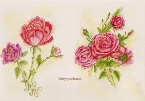 Roses postcard by ma-ry2004