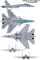 Aggressor SU-33 Flanker D by bagera3005