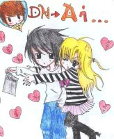 L and misa-misa.. XD by lawl24