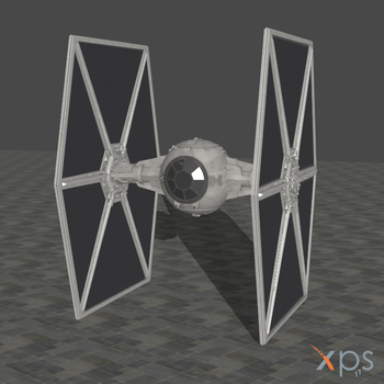 SW Battlefront 2015 TIE Fighter for XPS by SaltPowered