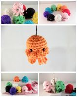 Jellin - Amigurumi Jellyfish Plush by pocket-sushi