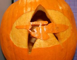 Starship Pumpkin Detail by Cl0ver