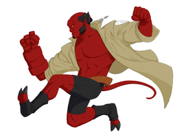 Hellboy, Colors by torispencer