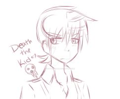 Death the Kid... sketch by xKathii-Chan