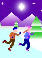 Ice Skaters (Old Picture) by The-WaxBadger