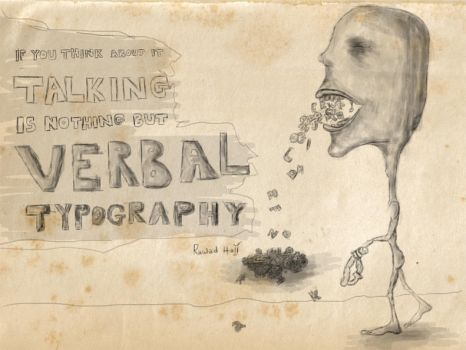 Verbal Typography by Rawad-Hajj