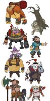 Dota 2 - Mini Radiant STR heroes by spidercandy