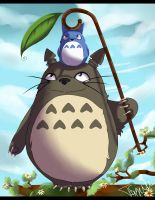 Tonari no Totoro by Dyaniart