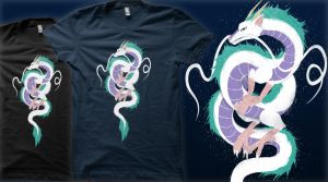 Haku the River Spirit(Vote for it on Qwertee!) by TechraNova