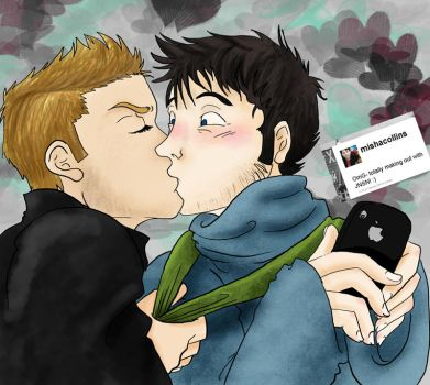 Tweets and Kissehs -deanmisha- by Goldbryn