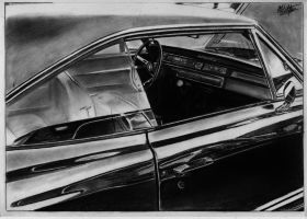 Dodge Charger R/T 1970 drawing by alainmi