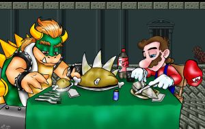 Mario's Thanksgiving by PaulistaPenguin