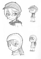 Julie Emily Peanuts sketchs by rongs1234