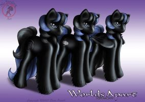 Black pony Triplets by FlyingPony