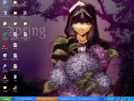 My Desktop in Fruhling by senseifan