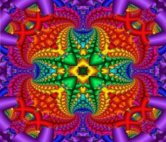 Psychedelic Rainbow Fractal by KirstenStar