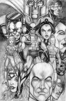X-Men_in graphite by BigRob1031