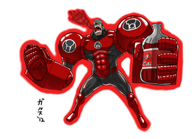 Red Lantern Franky by GarthTheUndying