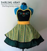 Anna Coronation Dress - Frozen - Cosplay Pinafore by DarlingArmy