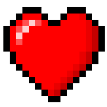 8-Bit heart stock by xQUATROx