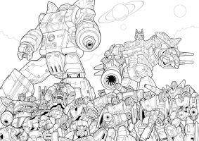 The Autobots (lines) by J-Rayner