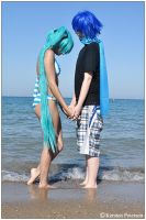 Vocaloid: Shy Beach Days by CosplayerWithCamera