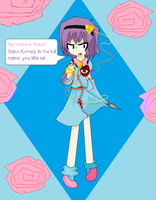 Touhou and Sonic: Satori. by AuroraArtz