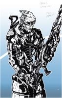 Mass Effect: Garrus Vakarian by ThePencil