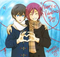 Rin Haru ~~ Happy Valentines Day by andungen