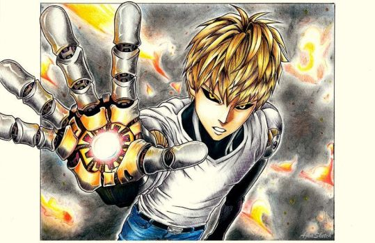 Genos - One Punch Man by AjkaSketch