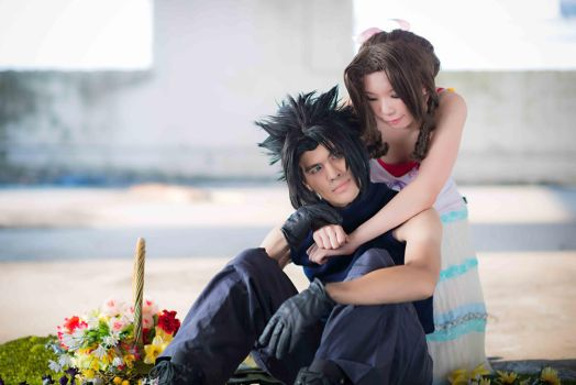 FFVII Crisis Core - Zack and Aerith by asdcvbtuym