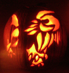 Absol Pumpkin Carving by Drake-Ryu