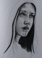 Sketch of a girl by wesers