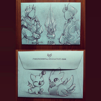 Final Fantasy Envelope by FoxInShadow
