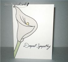 Calla Lily Sympathy Card by HandCraftedCards